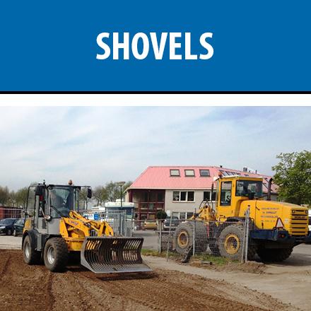 huur shovel shovels verhuur shovelers
