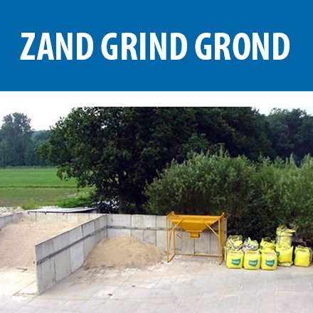 Wegenbouwmaterialen wegenbouwmateriaal grondmateriaal Zand Grind Grond Menggranulaat