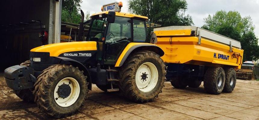 verhuur wielladerkiepwagen tractor