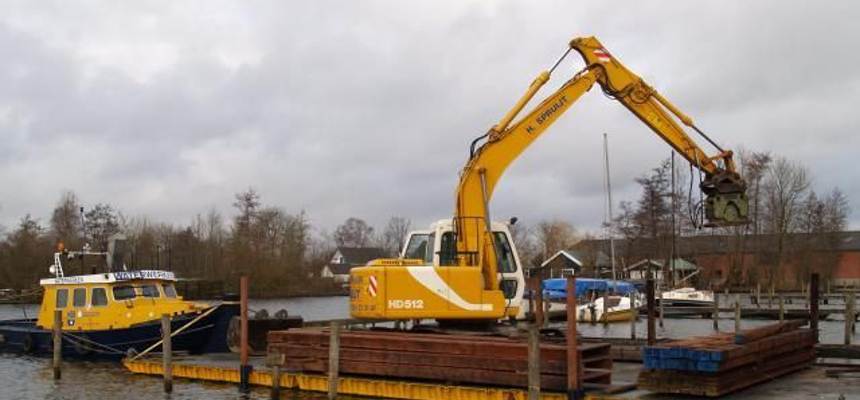 koppelbare ponton machineverhuur water