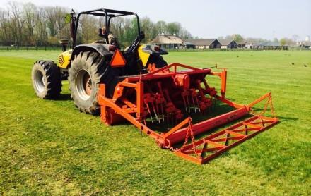 tractor verti drainmachine verticuteermachine huren vertidrain
