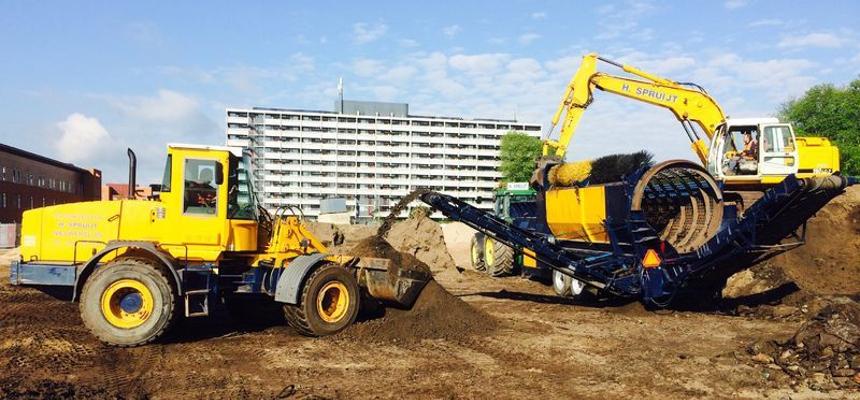 verhuur minishovel smalspoor tractor new holland