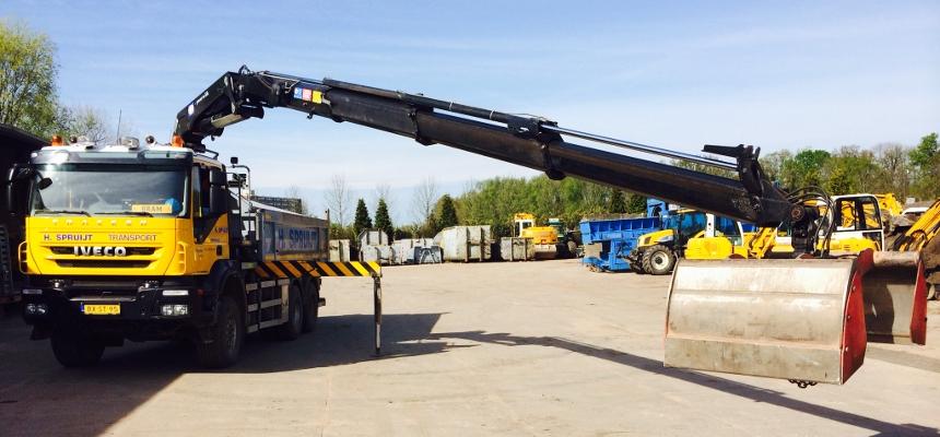 kippervrachtauto containerwagen