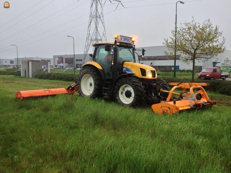 tractor klepelmaaier new holland dubbele klepelmaaier verticuteermachine huren